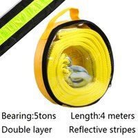 automobile stripes - tons meters double layers reflective stripes towing ropes strong automobile trailer rope car tools Tensioning Belts