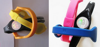 Wholesale 100 silicone energy bracelet band balance hands wristband S M L With Retail Boxes packing them yourself