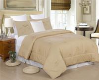 al por mayor mantas de algodón reina-King Queen Twin 100% Natural cuatro temporada de algodón Camel pelo / lana edredón / edredón / manta / ropa de cama es personalizado