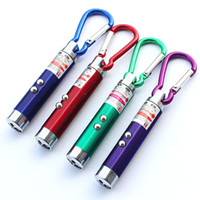 Wholesale Powerful mW in Mini Red Laser Pointer LED Flashlight UV Torch With Keychain Cash Check Function