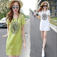 Casual Dresses bell contract - 2016 summer new large size ladies contracted students cultivate one s morality show thin linen dress summer leisure dress