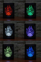Wholesale DHL Free Digital Photo Frame Star Wars Led Christmas Decoration Lights D Lighting LED Light Cubes Color Changing Colorful Light