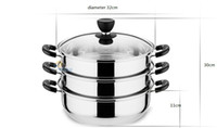 big cooking pots - to BRAZIL big siz stainless steel steamer pot cm diameter layer cooking pot can be induction cooker