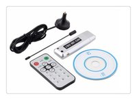 Wholesale New USB DVB T Digital TV Receiver HDTV Tuner Dongle Stick Antenna IR Remote Free hot selling
