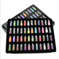Wholesale 3D Nail Art Decoration Mini Bottles with Nail Art r Count Glitter Powder Dust Caviar
