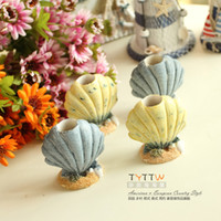 Wholesale 2015 NEW Mediterranean style cute little shell table decoration table toothpicks toothpick box Home Furnishing accessories