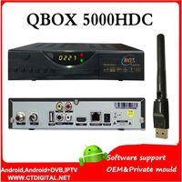 reloj + USB WIFI decodificador receptor QBox 5000hdc QBox HD Singapur HD N3 cuadro negro cable de canales de fútbol