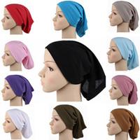 Wholesale New Fashion Cotton Muslim Women Islam Inner Hat Cap Headscarf Hijab