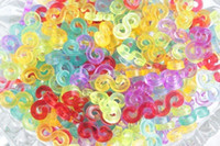 Wholesale Set Colorful S Clips And C Clip For Rainbow Loom Rubber Band Twist DIY Bracelet Necklace Ring Christmas Gift