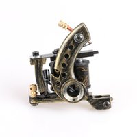 art copper supplies - New Arrive Handmade Tattoo Machine Vintage Brown Tattoo Machine Shader Art Supply In Good Quality