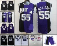 arrival mike - A High Quality new arrival Sacramento Jason Williams Mike Bibby blcak blue jersey for mens