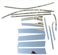 Wholesale Stainless steel Chrome Trim uper window Trims kit for Mitsubishi Outlander