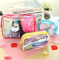 beach cosmetic case - S M L SIZE rainbow PVC beach Cosmetic Bags Cases Makeup Cosmetic Bag Travel Waterproof Clear Transparent Make Up Organizer Cosmetic Bags