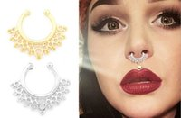 Wholesale New Nose piercing jewelry ornament fashion trade false nose nail styles mixed a