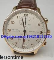 b mechanical watches - Luxury K Rose Gold Portuguese Chrono b p Men Automatic Watch Leather Men s Sport Wrist Watch
