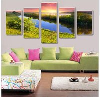 beautiful pictures world - five beautiful garden home decor canvas decoration pictures into the world of oil painting