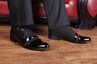al por mayor zapato de los hombres de oficina-2016 zapatos de boda británicos de la boda de Oxford de los hombres de la manera del estilo zapatos de vestido señalados varón de la oficina del dedo del pie de los zapatos de patente