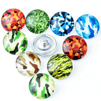 bead jewerly - 100pcs camouflage mixes mm Button Ginger Snap Charms Jewelry Interchangeable Jewerly Charms Pendants Necklace Charms