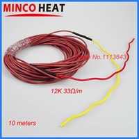 Wholesale 10 m W k ohm Infrared Heating Floor heating Cable system mm carbon fiber wire Electric floor hotline