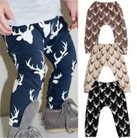 Wholesale 2016 Kids Baby Boys Girls Deer Bottom Pants Leggings Harem Pants Trousers Casual T