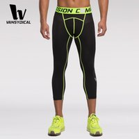 Wholesale Mens Sport Calf Length Pants Running Basketball Compression Tights Athletic Gym Bottoms Casual Tracksuit Elastic Joggers Men