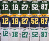 bay shorts - NIK Elite Packers jerseys cheap rugby football jerseys Green Bay RODGERS MATTHEWS COBB NELSON LACK green white blue yellow
