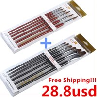 Wholesale Promotion sets of Red Sable Hair Paint Brush With To Worldwide
