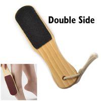 Wholesale 2 Way Pedicure Foot Rasp File Scrubber Hard Dead Rough Dry Skin Callus Remover Wood Pedicure Tool