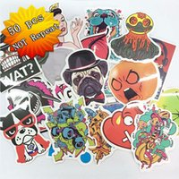 aluminum body laptop - 50 Mixed funny hit stickers for kids Home decor jdm on laptop sticker decal fridge skateboard doodle stickers toy stickers Size cm