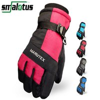 Wholesale Men Women Winter Warm Sport Ski Gloves Snowboard Sport Gloves Mittens Waterproof Windproof Snow Cycling Riding Ski Gloves