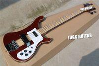 Wholesale Ricken RARE TRANSLUCENT WALNUT vintage String Electric Bass Guitar Neck Thru Body One PC Neck Body