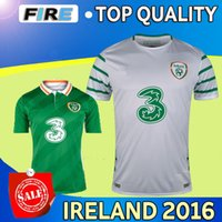 2016-17 jerseys irlandeses del fútbol caseros azules Jersey 2016 17 jerseys negros del fútbol de la taza europea Irlanda que entrenan a la tapa de la camisa Tailandia e Irlanda