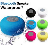 Cheap Wholesale 10pcs lot Portable Water-proof Wireless Bluetooth Speaker subwoofer Shower Car Handsfree Music Suction Phone Mic Promotional