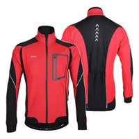 Wholesale 2016 Arsuxeo Windproof Jackets Long Sleeve Winter Thermal Fleece Cycling Jersey Set Bicycle Bike Cycling Clothing Men s Jacket Colors