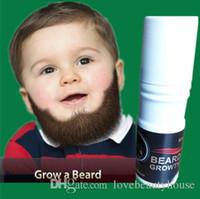 Wholesale 12X ml mustache Beard grow liquid days for beard grow thicken facial hair regrow bardbeard for men