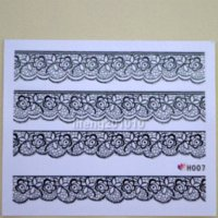 batch art - D Black Lace Design Nail Art Stickers Decals For Nail Tips Decoration Tool H007 mixed batch