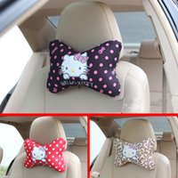 Wholesale New Hello Kitty Bow Car Neck Pillows Cartoon Car Interior Accessories Colors