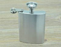 Wholesale 7oz stainless steel mini hip flask with keychain Portable party outdoor wine bottle durable washable hip flask