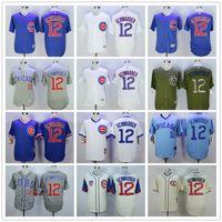 Wholesale Chicago Cubs Kyle Schwarber Baseball Jerseys White Pinstripe Blue Grey Throwback Cream Best Stitched