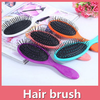 venda por atacado escovas de cabelo-Escova de cabelo seco molhado Escova de cabelo original Detangler escova de cabelo com Airbags Combs para escova de chuveiro molhado cabelo 160916