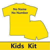 2016-2017 superior de Tailandia para niños Kit Uniformes de fútbol cualquier equipo Cualquier club de fútbol camisetas Camisa