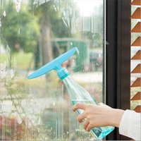 Wholesale colors Glass Window Wiper Water spray Cleaner Squeegee Home Shower Bathroom Mirror Car Blade