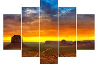 art monuments - LK563 Panels Modern Oil Painting Monument Valley Canvas Printing Decoration Unframed Landscape Oil Painting landscape oil painting art Wal