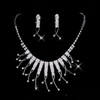 big prom earrings - 2016 Cheap Styles Necklace Earrings Rhinestone Big Crystal Bridal Accessories Bridesmaid Lady Women s Prom Party Wedding Jewelry Sets