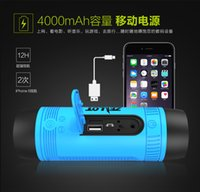 plastic flashlight - 2016 Zealot S1 Mini Wireless Bluetooth Speaker LED Flashlight TF USB FM Handsfree Sound Box Subwoofer Loudspeakers with red blue green color