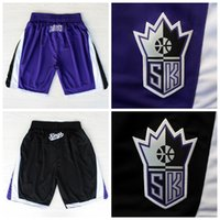 Wholesale 2016 Sacramento Basketball Shorts Sacramento Cousins Gay Purple Black Basketball Shorts Size S XXL
