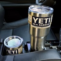 Wholesale Vehicle Stainless Steel oz Yeti Cup YETI Rambler Tumbler Cup Vehicle Beer Mug Double Wall kitchen grade stainless steel