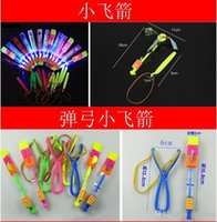 Wholesale 2016 new LED flash slingshot arrow ejection arrows red and blue double flash flying Fairy