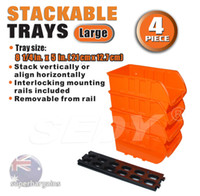 Wholesale SEDY plastic stackable trays removable from rail align horizontally stack vertically tool