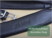 Wholesale 2015 Black Color Soft mm Wide Leather Accordion Straps Adjustable Bass Universal Accordion Straps Set